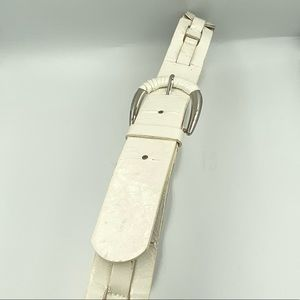 Guess Leather White Belt